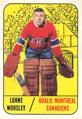 gump worsley hockey cards | 1967 Topps Gump Worsley #1 Hockey Card