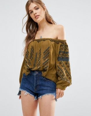 Free People – All I Need – Schulterfreie Bluse