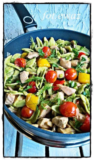 Ewa w kuchni: Makaron z kurczakiem i warzywami