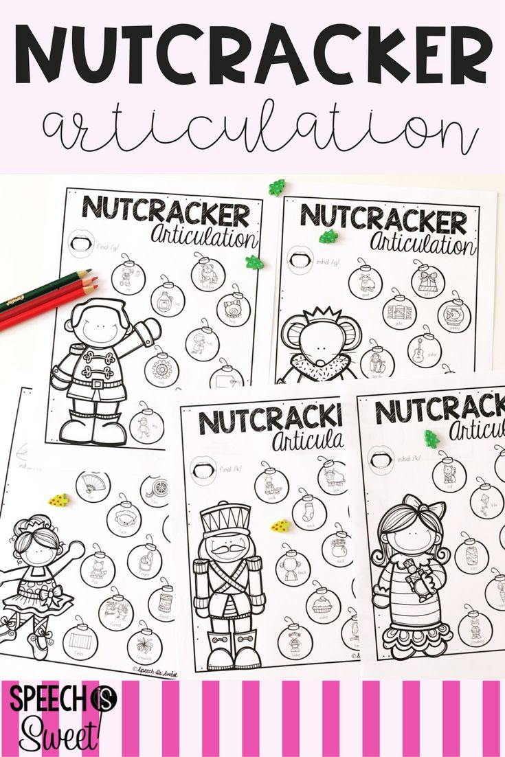 Coloring activities speech therapy - Nutcracker Articulation Your Speech Therapy Students Will Love These No Prep Christmas Themed Sheets