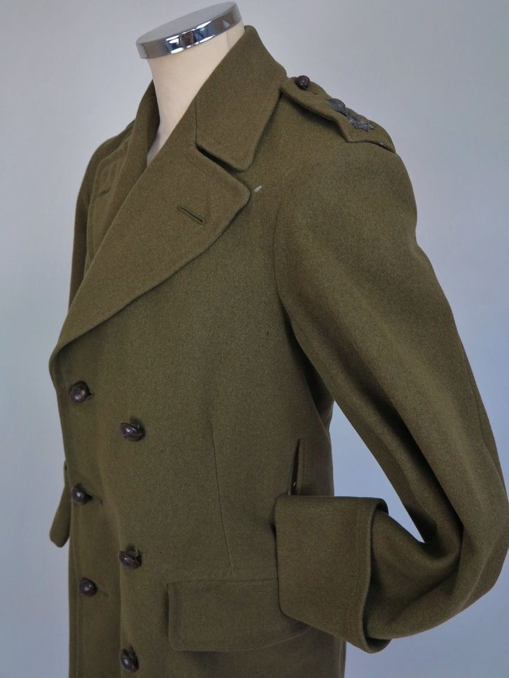 Greatcoat WW1 Coat WW2 Greatcoat Officers Coat Bespoke Vtg Military Coat in Clothing, Shoes & Accessories, Vintage, Men's Vintage Clothing, Pre-1930 (Victorian, 20s) | eBay