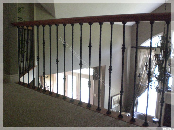 rod iron banisters | Wrought Iron Railing / RAILING_323.JPG