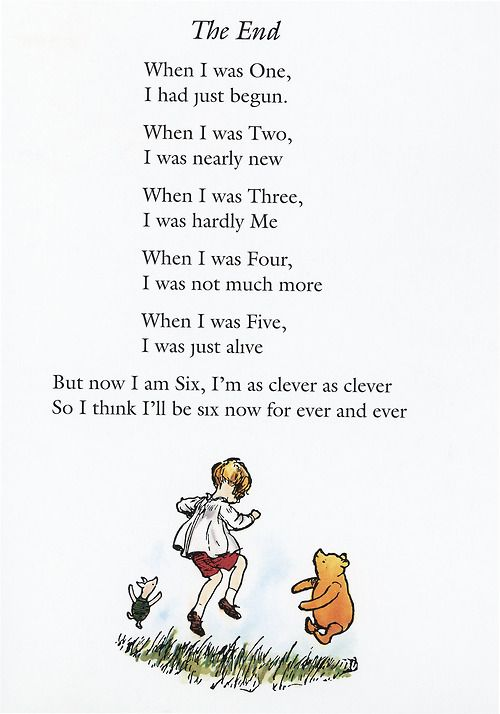 Now We Are Six by A. A. Milne    - I read this poem to the class as a birthday gift for each student on their 6th birthday. It made for some very special moments!