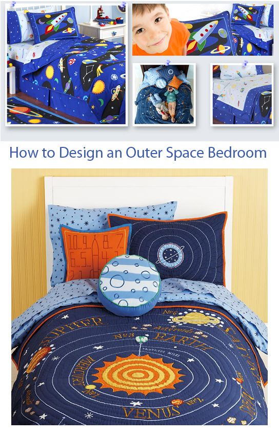 Kids Bedroom Design Ideas: Article on How to Design a Planet, Solar System, Rocket or Outer Space Bedroom