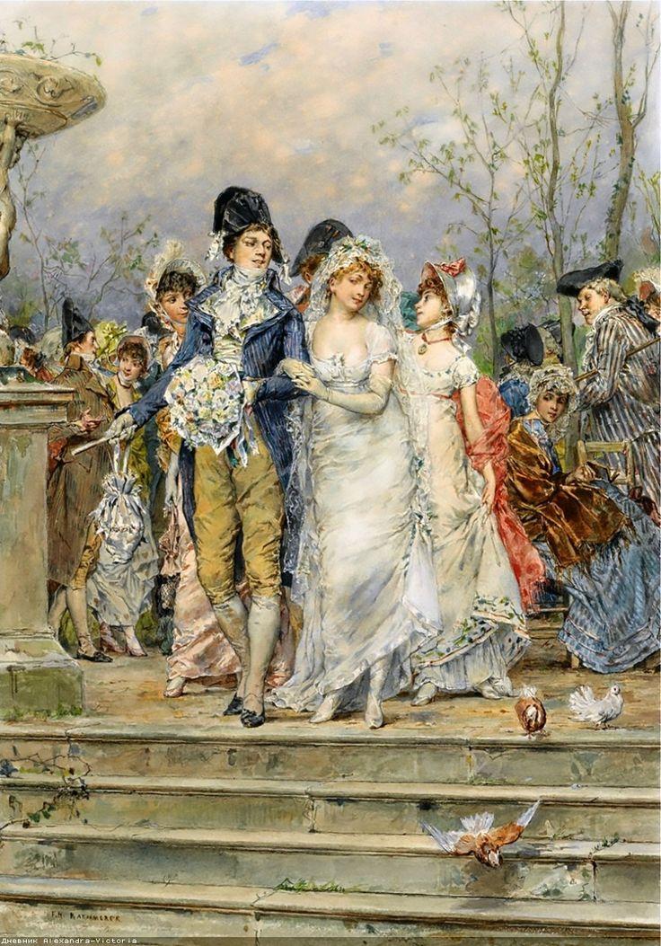 Галантный век от Frederick Hendrik Kaemmerer (Dutch, 1839-1902)