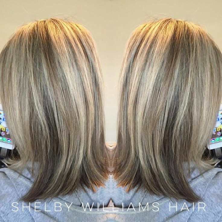 Partial blonde highlights
