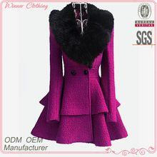 2015 winter women's coat fancy bodysuit big fur collar shift flare skirt unique women winter coats  Best Buy follow this link http://shopingayo.space