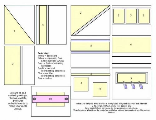 """One sheet wonder template for 8 1/2"""" x 11"""" sheets!"""