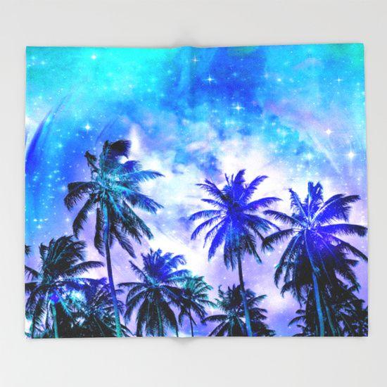 Summer Night Dream Throw Blanket
