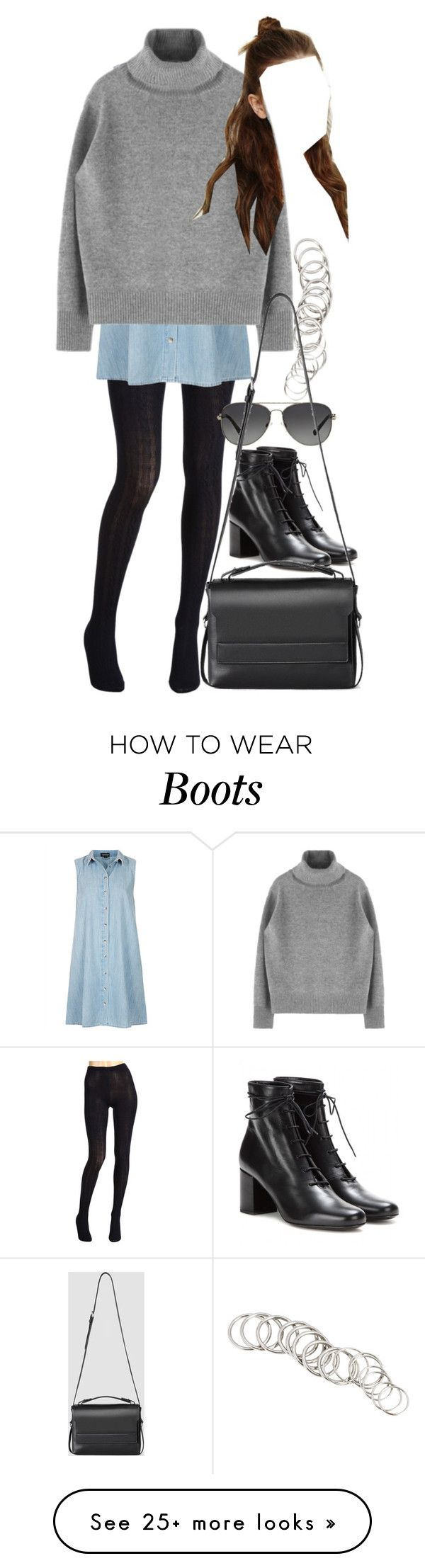 """Untitled #8089"" by nikka-phillips on Polyvore featuring Hue, Topshop, H&M, Michael Kors, Yves Saint Laurent and AllSaints"