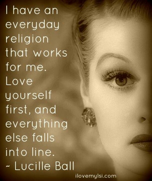 My Religion Is Love Lucille Ball From I Love Lucy Life