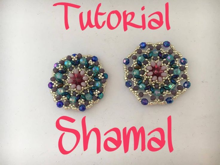 tutorial modulo Shamal - incastonatura netted! DIY Shamal Earring