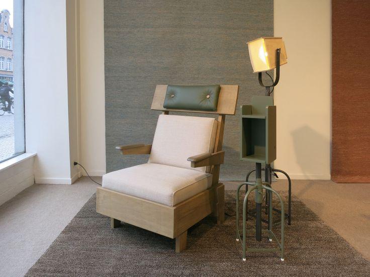 rest chair, jobtom  |  TOM FRENCKEN  |  shop window expo at vanCaster in Mechelen, Belgium. 2014