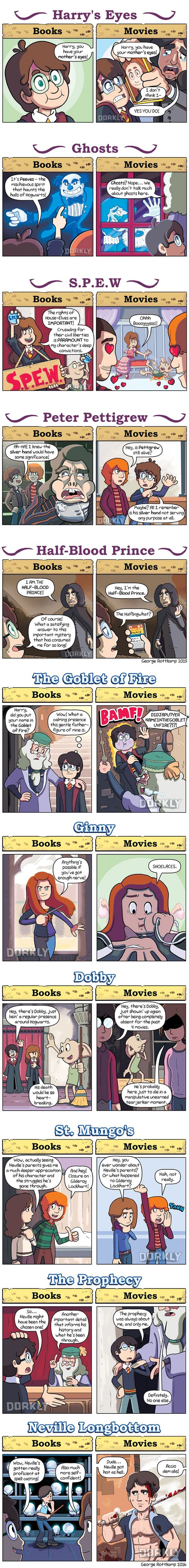 11 Ways Harry Potter Movies Are Different From The Books