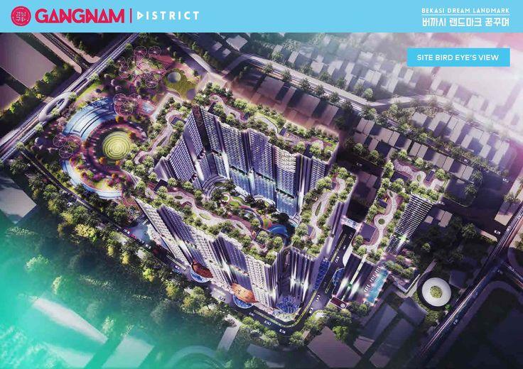 Akses menuju lokasi Gangnam District Bekasi dapat melalui exit tol Bekasi Barat & Bekasi Timur (berjarak 10 menit), tepat berada di Bekasi Aeromovel Station yang akan menghubungkan Bekasi Selatan dan Bekasi Barat melalui Jalan Siliwangi,
