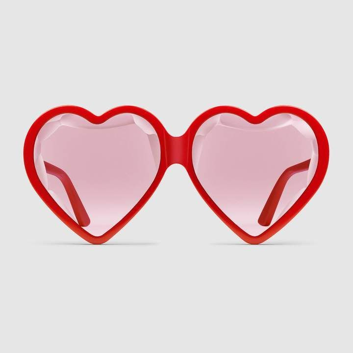Bold Sunglasses Gucci Specialized Fit Heart Frame Acetate Sunglasses Sunglasses Gucci Boldsunglasses Hea Heart Shaped Sunglasses Sunglasses Heart Frame