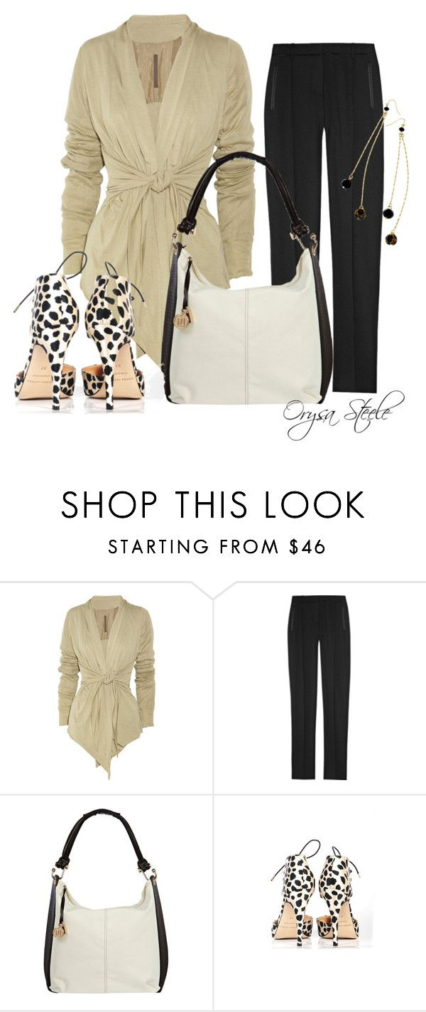 """""""Leopard Spots"""" by orysa ❤ liked on Polyvore featuring Rick Owens Lilies, Jason Wu, River Island, Bionda Castana, GUESS and styled by orysa"""