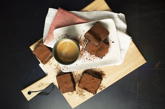 Dani Valent's chocolate mousse brownies. Photo: supplied