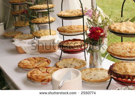 displaying pie for wedding | Pies At Wedding Stock Photo 2550774 : Shutterstock