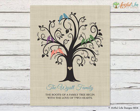 15+ Amazing Family Tree Art Templates & Designs | Free & Premium ...