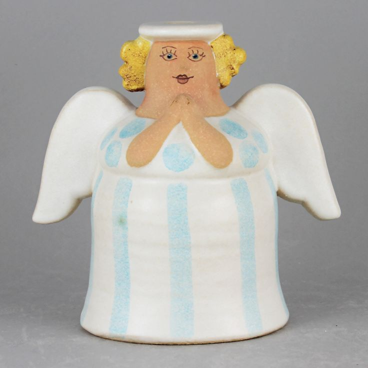 Lisa Larson (1990s) Amiable Angel Candleholder (White)