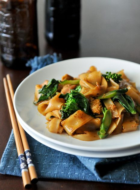 Pad See Ew- YUM! This is really good.  The hubby wasn't impressed, but he doesn't like Pad See Ew as much as Phad Thai so what does he know?  Keeper recipe