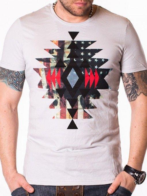 Tricou pentru barbati Shapes gri