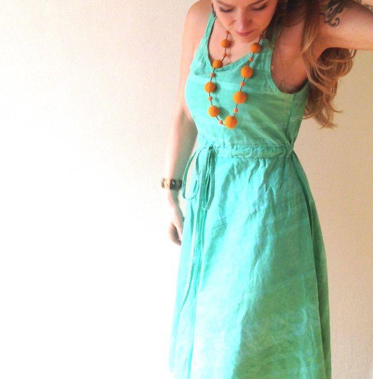 Classic dress in mintgreen batique :D