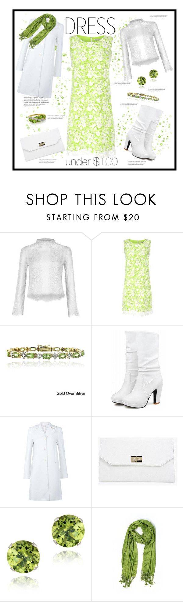 """Winter Dresses Under $100: Greenery"" by susan0219 ❤ liked on Polyvore featuring River Island, Precis Petite, Glitzy Rocks, Hobbs, Boohoo, Nordstrom and under100"