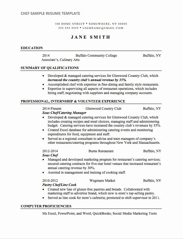 23 Line Cook Resume Example In 2020 Sample Resume Templates Chef Resume Resume Examples