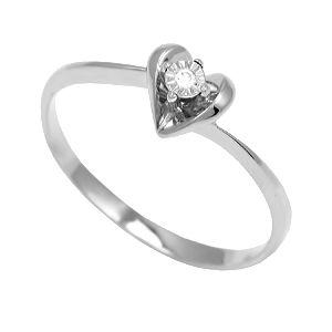 Кольцо из белого золота с белыми бриллиантами