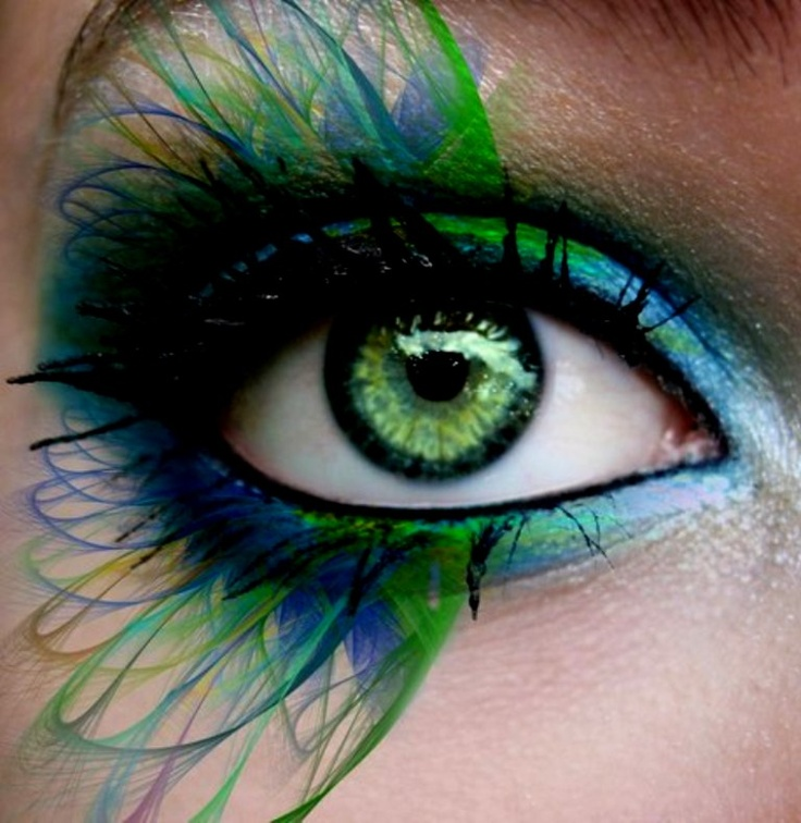 long blue  green eyelashes green eyes wide open  June 2013