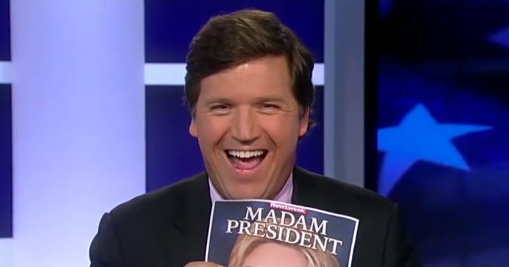 """VIDEO: TUCKER CARLSON ROASTS FAKE NEWS EDITOR OVER """"MADAM PRESIDENT"""" EDITION Newsweek claims """"we did not review"""" outsourced election issue"""