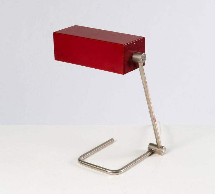 Anonymous; Steel, Painted and Nickel-Plated Metal Table Lamp by HALA, 1960s.