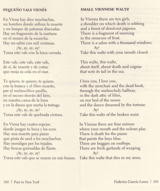 Lorca poem that my favorite L Cohen song is based on
