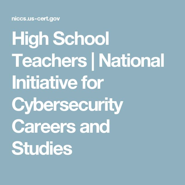 10 best national cybersecurity career awareness week images on high school teachers national initiative for cybersecurity careers and studies fandeluxe Images