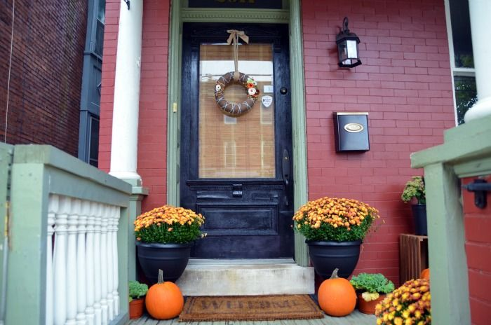 Fall Front Door Decor {fall ideas}