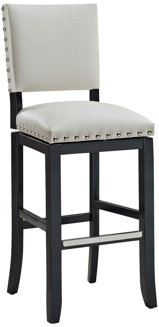 Seating Jaxon 30 White Bonded Leather Swivel Bar Stool Leather Swivel Bar Stools Counter Height Stools White Leather Bar Stools