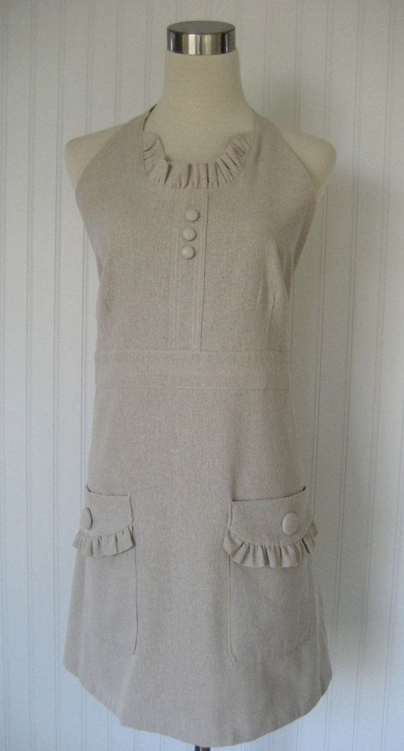 I want this for Xmas! Full Apron Linen Blend Holiday Hostess Christmas by thehiphostess, $40.00