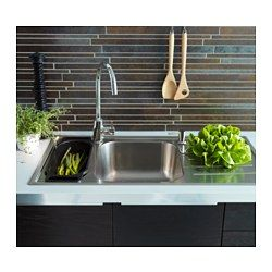 Zak S Favourite Sink Boholmen 1 1 2 Bowl Insert Sink With Drainer Ikea