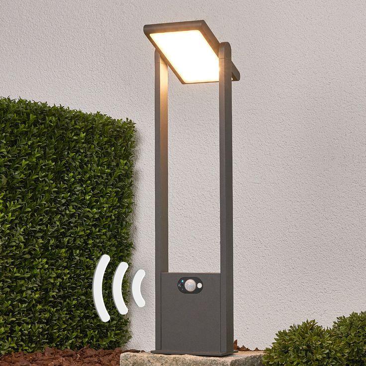 Borne lumineuse solaire Valerian LED Détecteur Capteur Lampe solaire -