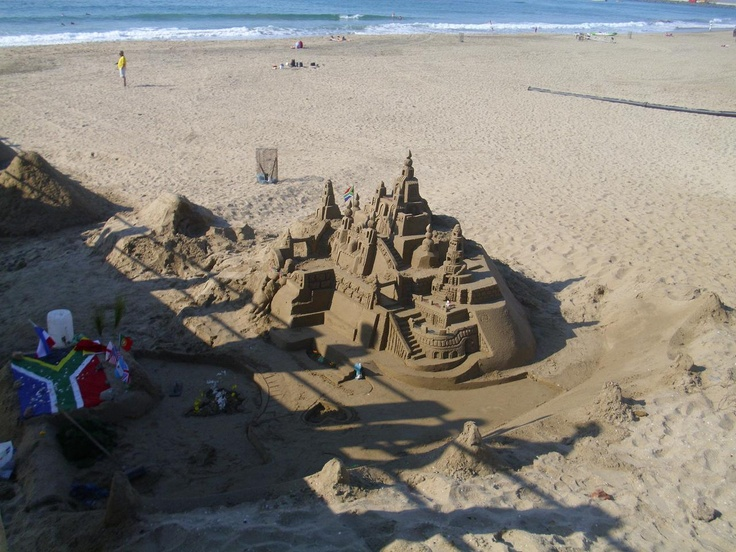 One of the many amazing sand sculptures than can be found on the beaches of Durban