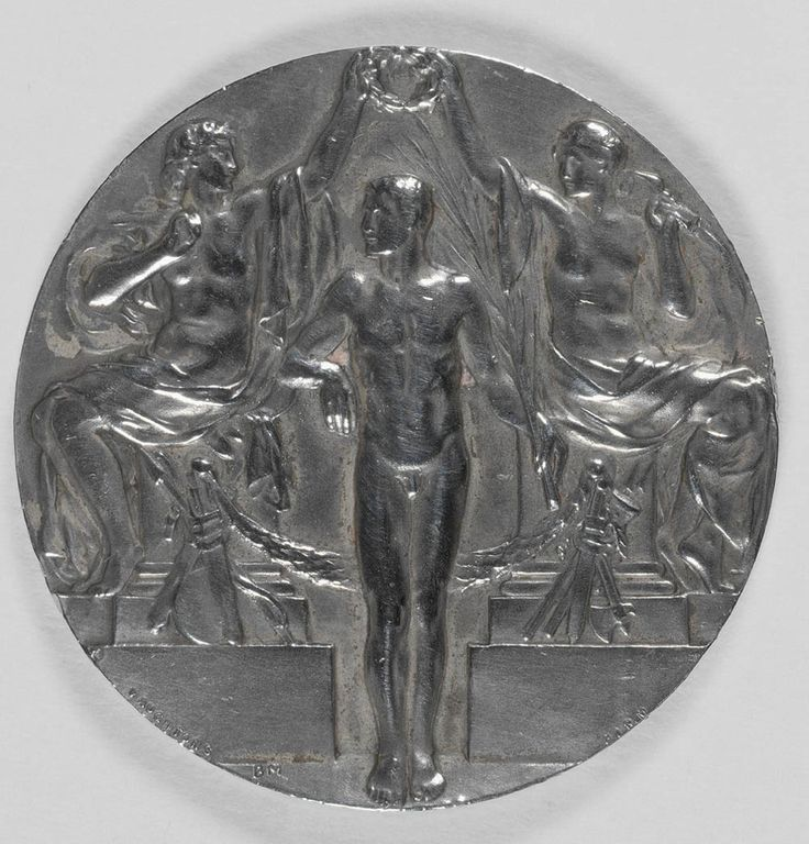 Silver medal awarded to Wilhemina (Mina) Wylie, Olympic Games, Stockholm 1912 (reverse). State Library of New South Wales: http://www.acmssearch.sl.nsw.gov.au/search/itemDetailPaged.cgi?itemID=442739 (R 956 / 13)