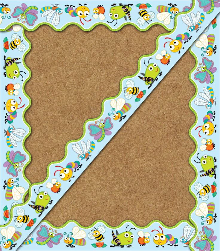 "Your students will go ""buggy"" for learning with the eye-catching ""Buggy"" for Bugs Scalloped Borders featuring an assortment of irresistible little creatures in fresh, contrasting designs and patterns. Add color and personality to any class creation, bulletin board, window, or anywhere an extra fun touch is needed! Perfect to use alone or in layers, borders come in a pack of thirteen 3' x 2.25"" strips for a total length of 39 feet!"