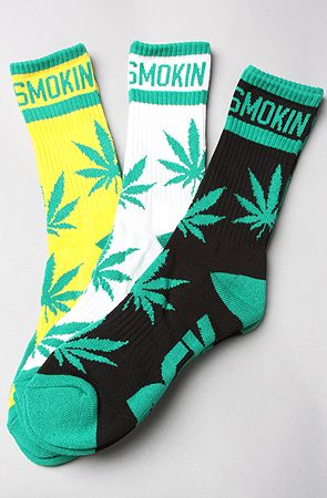$18 The Stay Smokin' 3-Pack Socks in Black, White, & Yellow by DGK - Use repcode SMARTCANUCKS for 10-20% off on #brickharbor - http://www.lovekarmaloop.com