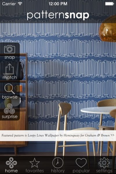 11.7.14 - Today's featured pattern is 'Loopy Lines' wallpaper by Hemingway for Graham & Brown