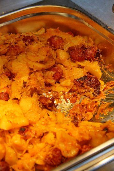 Káposztás tepsis krumpli
