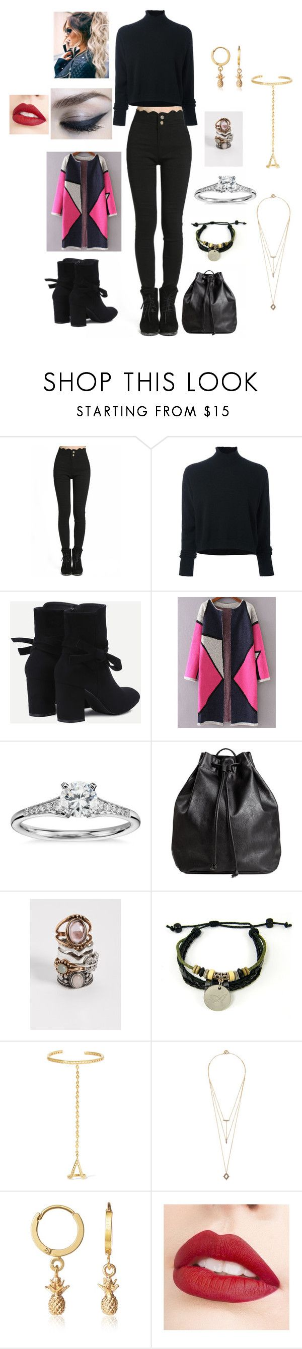 """Başlıksız #4228"" by tubaserdem ❤ liked on Polyvore featuring Le Kasha, WithChic, Blue Nile, H&M, maurices, Arme De L'Amour, Noir Jewelry, C.J.M and Jouer"