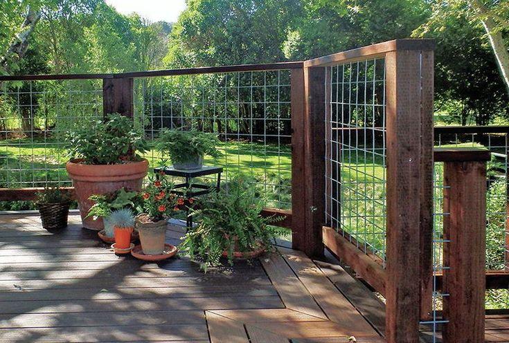 Hog Wire Deck Railing Ideas | Hog Wire Deck Railing Plans . Do you assume Hog Wire Deck Railing ...
