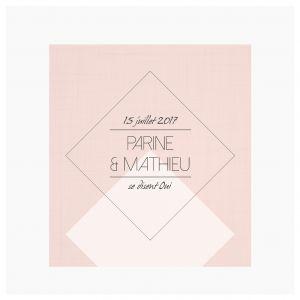 Faire-part Mariage - Dessine-moi une etoile - Diamond Blush Geometrique - Moderne